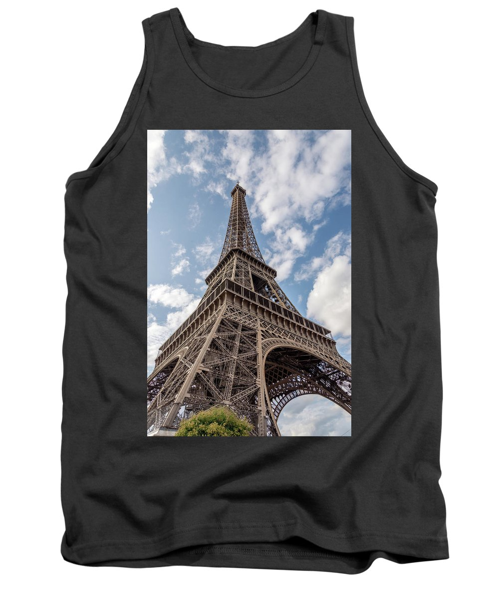 Tree Tank Top featuring the photograph Eiffel Tower In Paris by Michael Garner