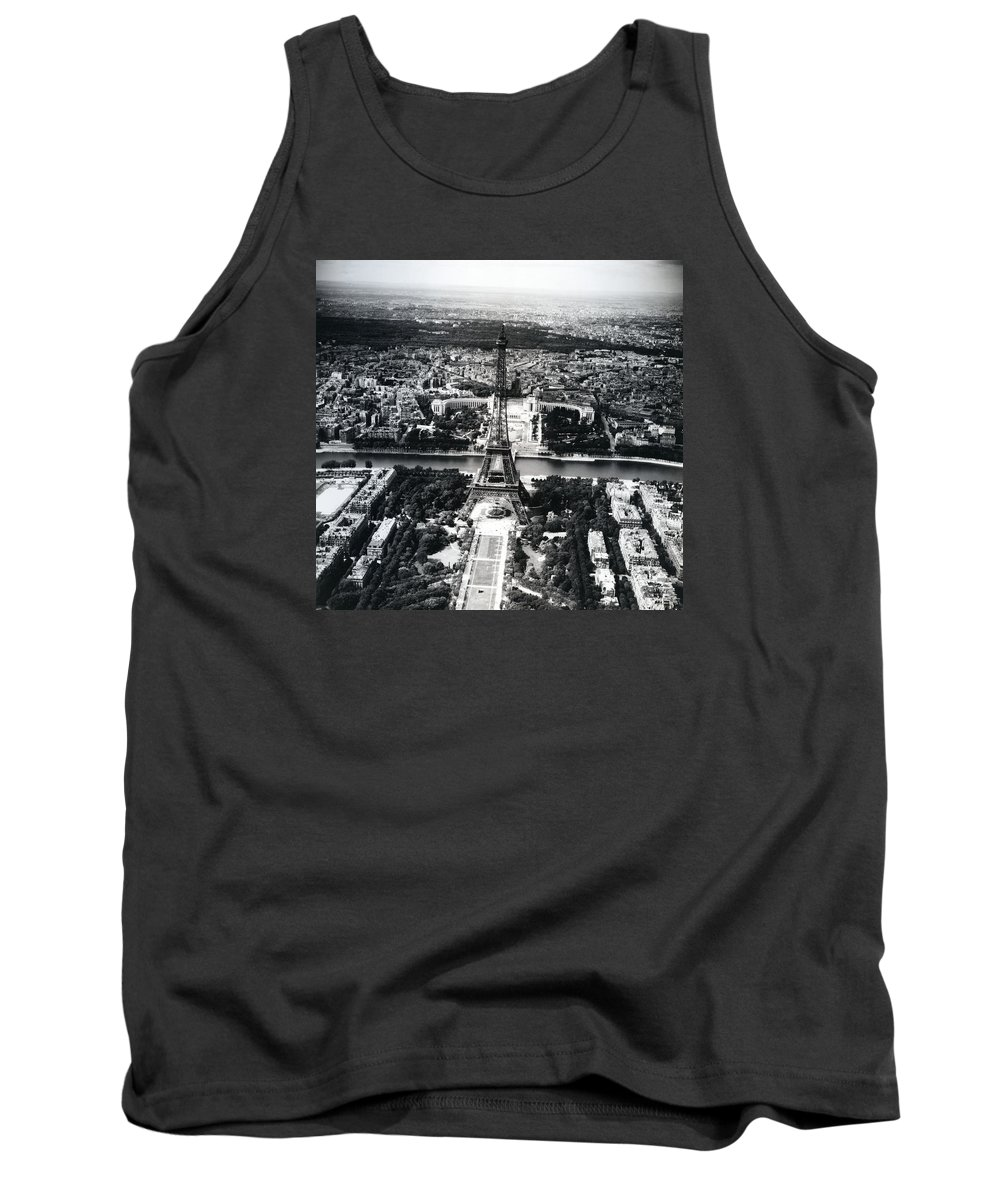 Paris Tank Top featuring the photograph Eiffel Tower Paris In Wwii by Rachel Knight