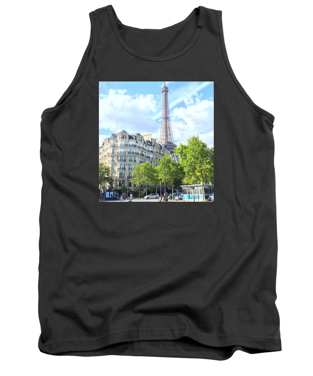 Tank Top featuring the painting Eiffel Tower Paris by Nancy Medina