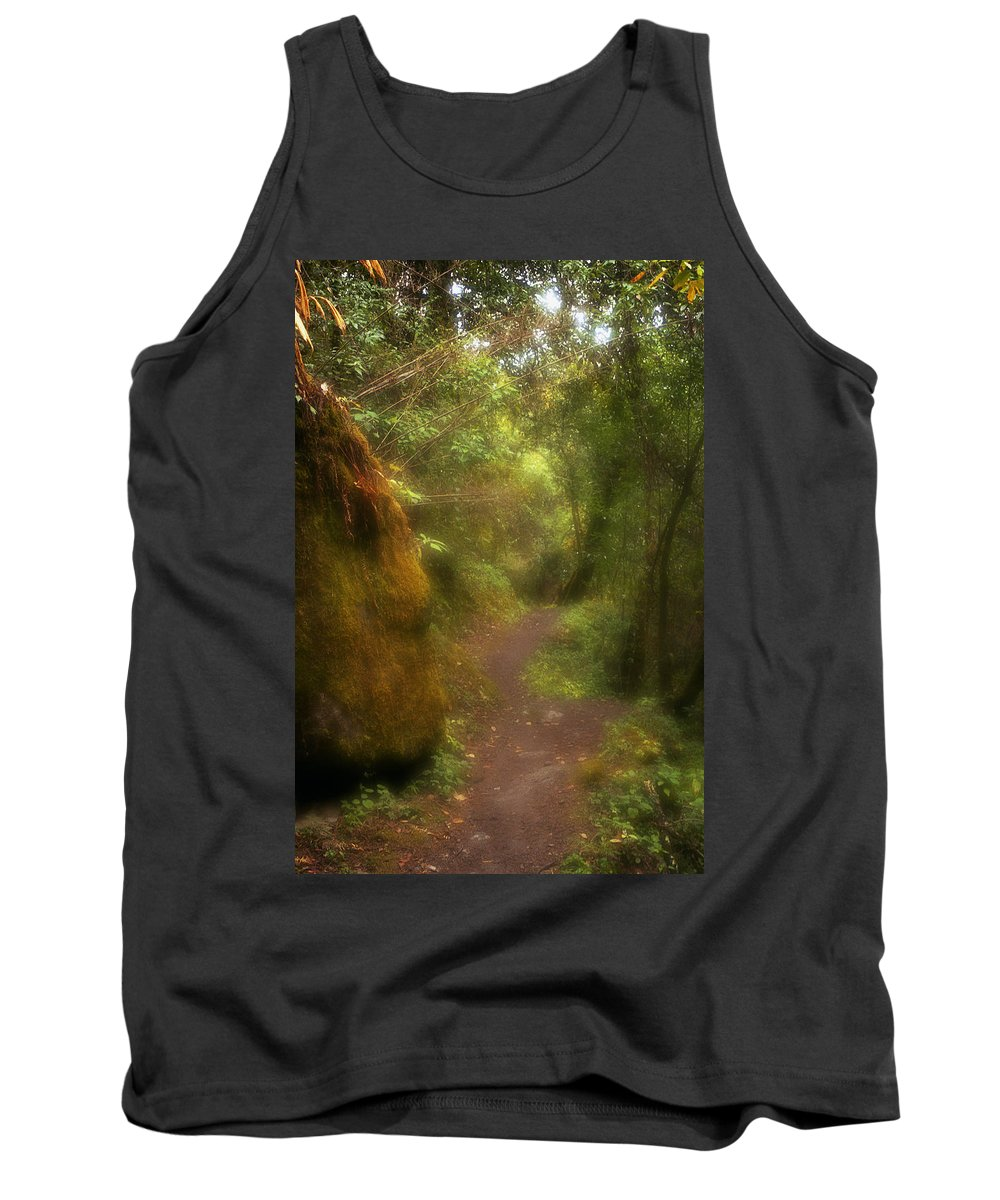 Path Tank Top featuring the photograph El Camino by Patrick Klauss