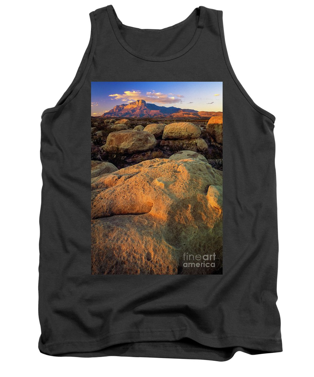 America Tank Top featuring the photograph El Capitan Texas by Inge Johnsson