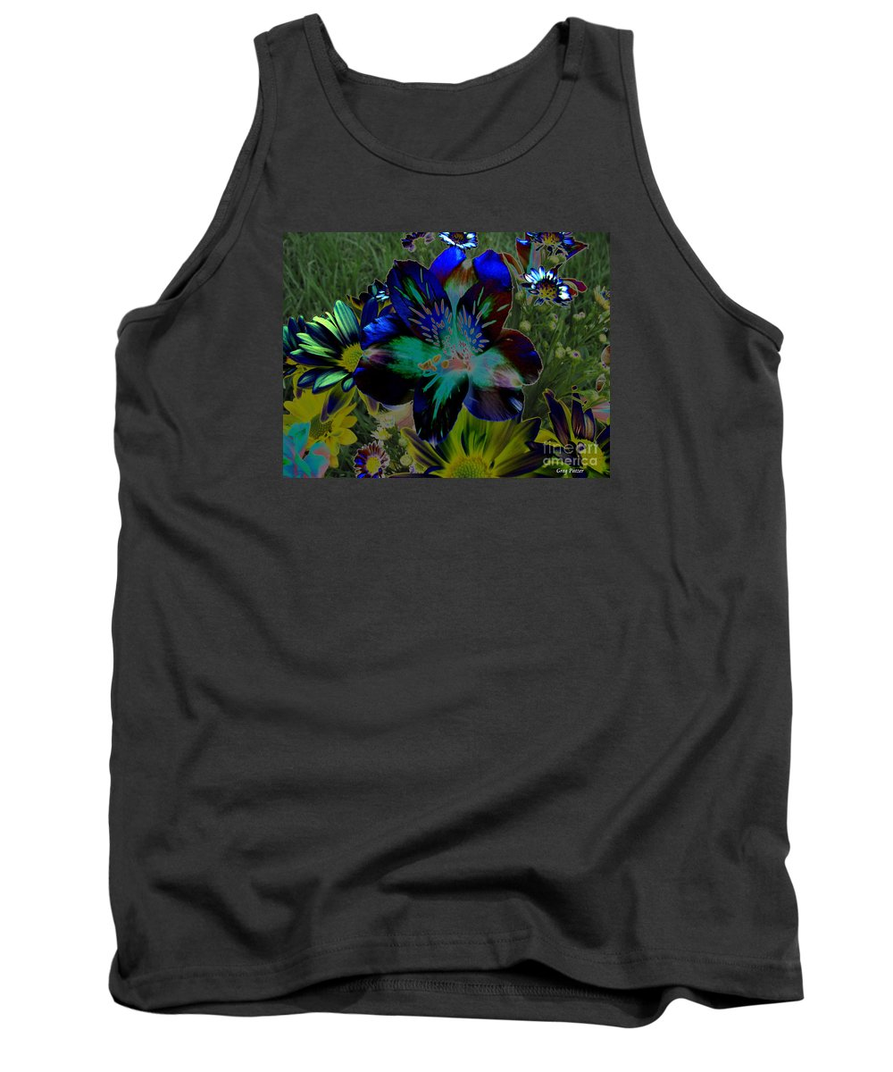 Art For The Wall...patzer Photography Tank Top featuring the photograph Electric Lily by Greg Patzer