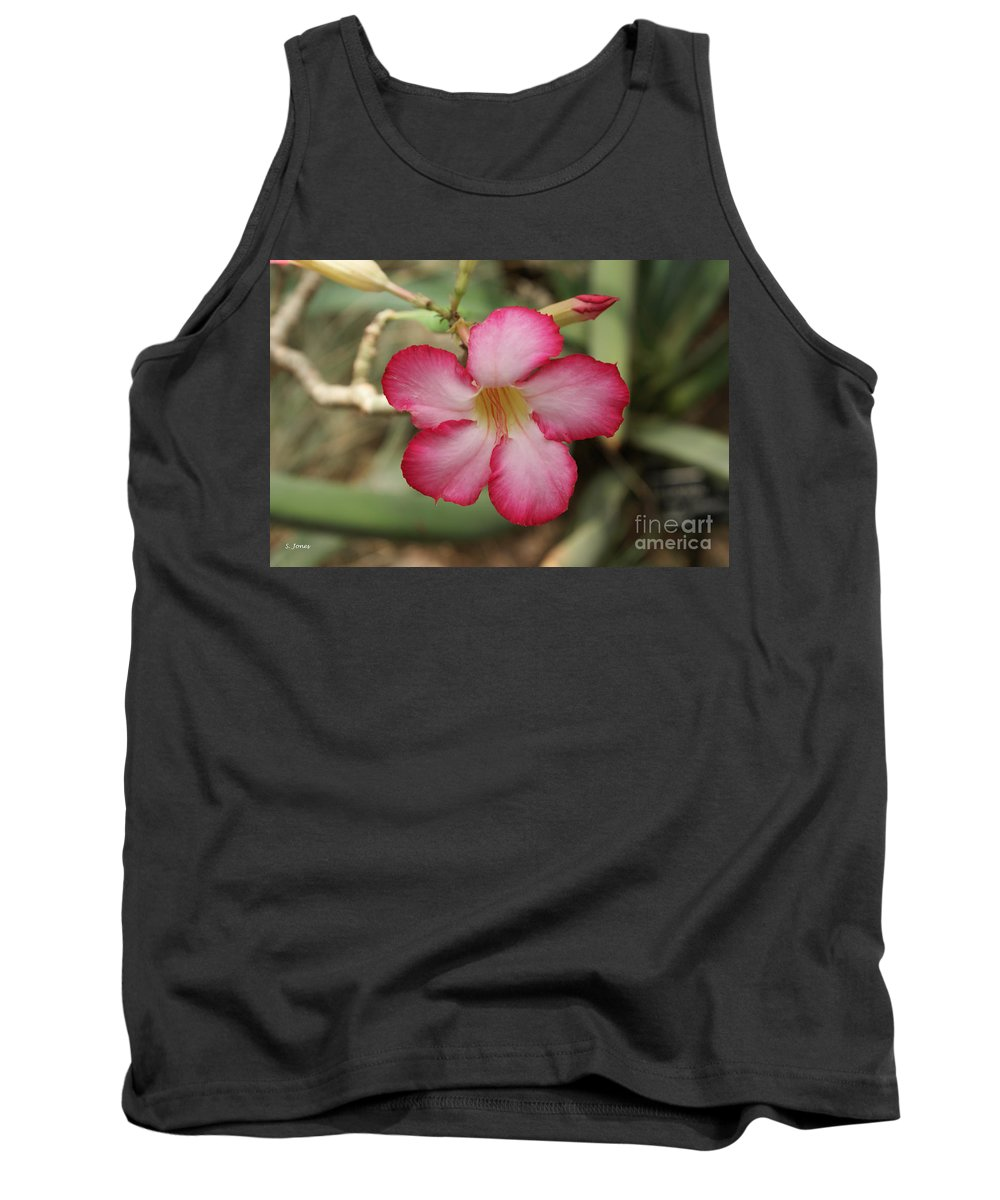 Floral Tank Top featuring the photograph Elegant by Shelley Jones