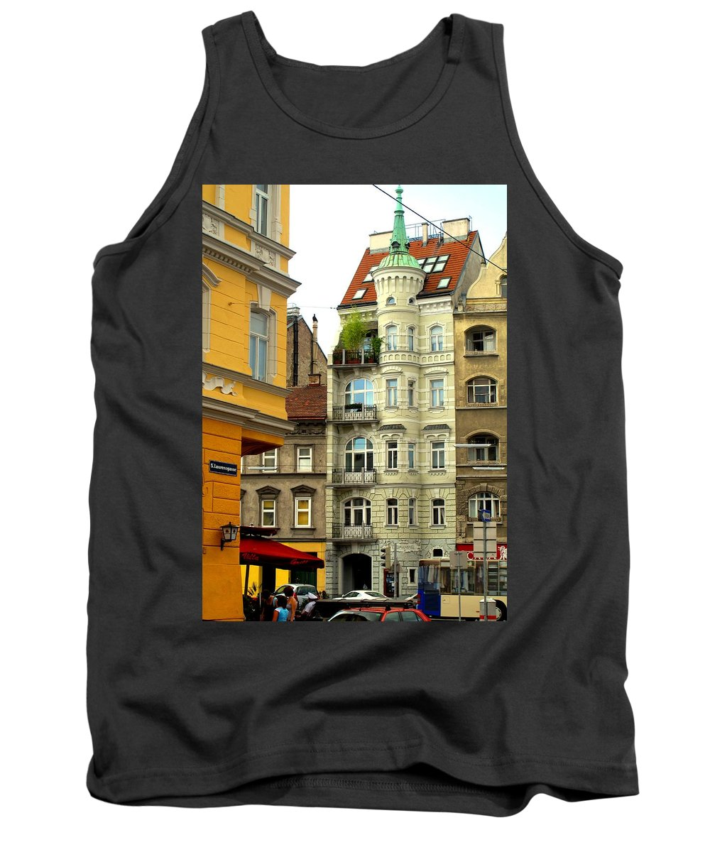 Vienna Tank Top featuring the photograph Elegant Vienna Apartment Building by Ian MacDonald