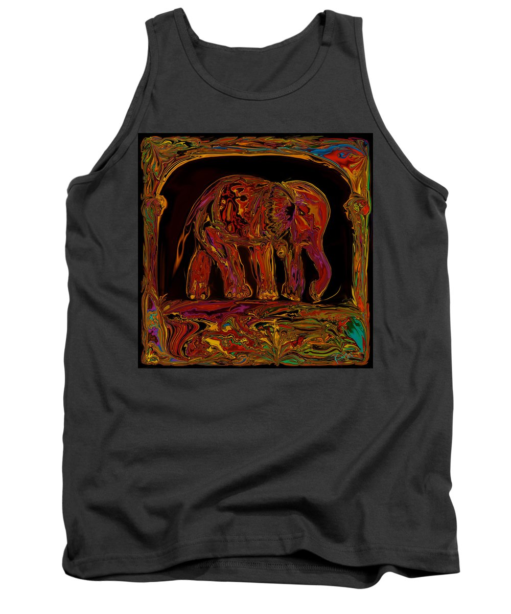Animal Tank Top featuring the digital art Elephant by Rabi Khan