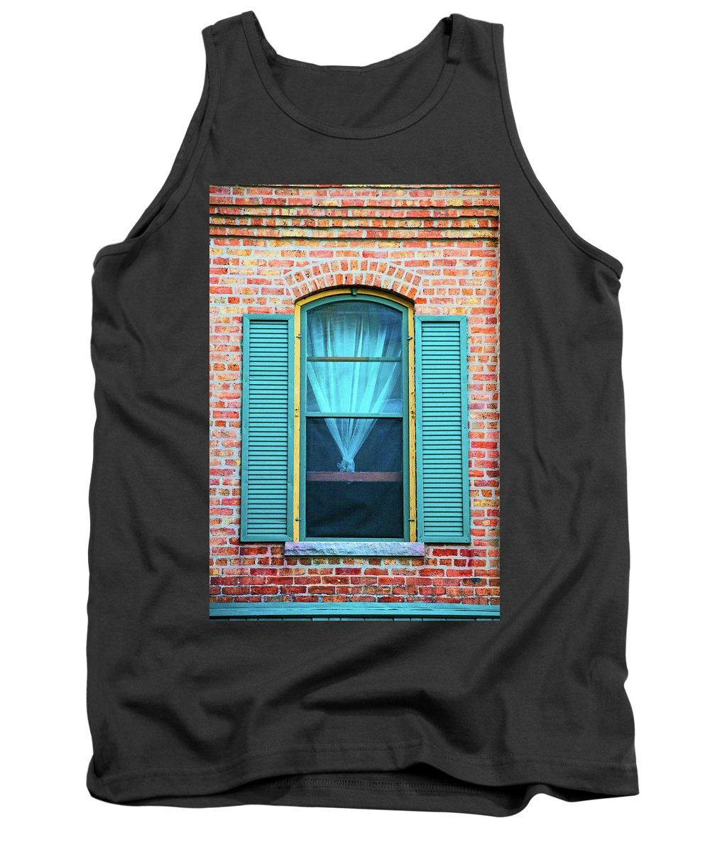 Elgin Tank Top featuring the photograph Elgin Illinois Window by Ira Marcus
