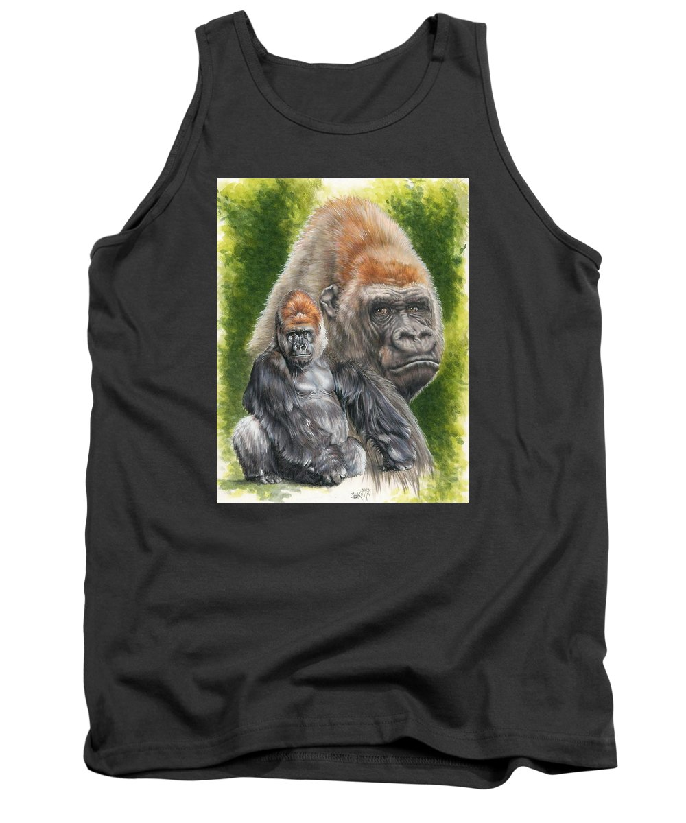 Gorilla Tank Top featuring the mixed media Eloquent by Barbara Keith