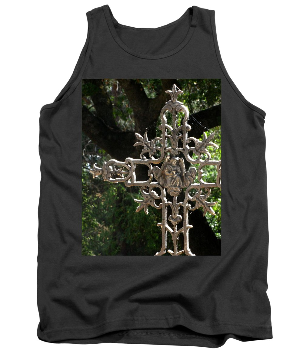 Embellished Cross Tank Top featuring the photograph Embellished Cross by Peter Piatt