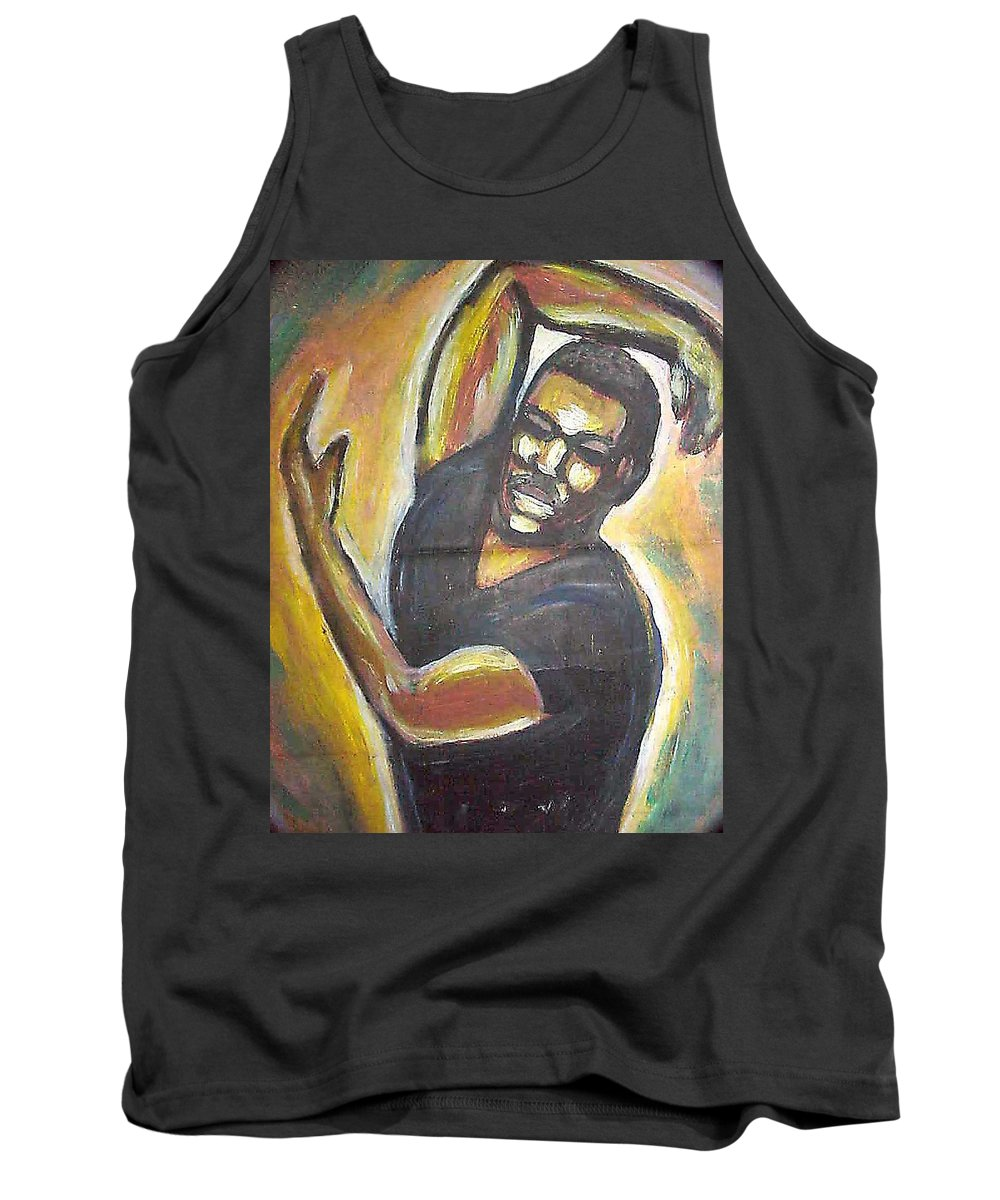 Figure Tank Top featuring the painting Embrace The Earth by Jan Gilmore