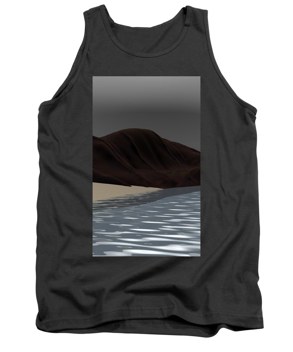 Abstract Tank Top featuring the digital art Emotion by David Lane