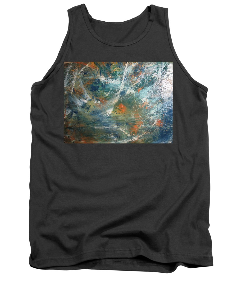 Non Duality Tank Top featuring the painting Emotional Deluge by Paula Andrea Pyle