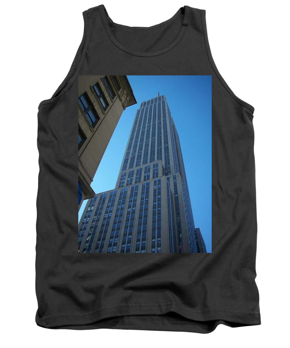 Emoire State Building Tank Top featuring the photograph Empire State 2 by Anita Burgermeister
