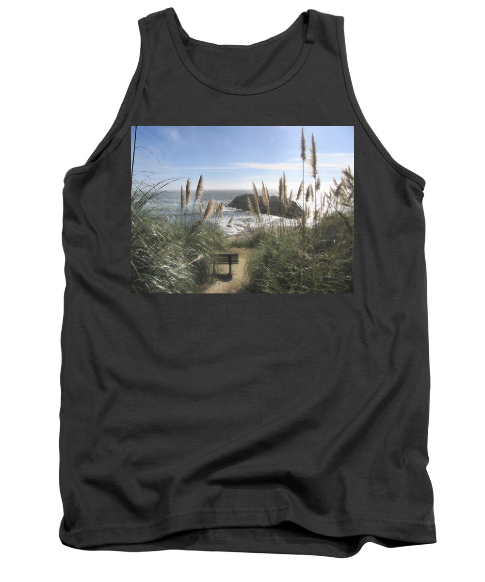 Ocean Tank Top featuring the photograph Empty Seat by Karen W Meyer