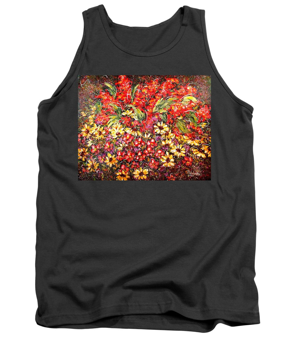 My Garden Tank Top featuring the painting Enchanted Garden by Natalie Holland
