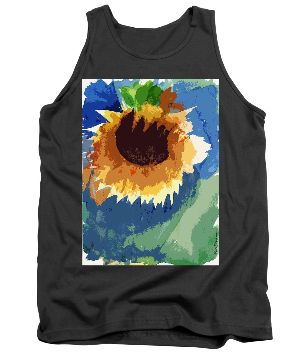 Dying Flower Tank Top featuring the painting End Of Life Unaware by Kate Hopson