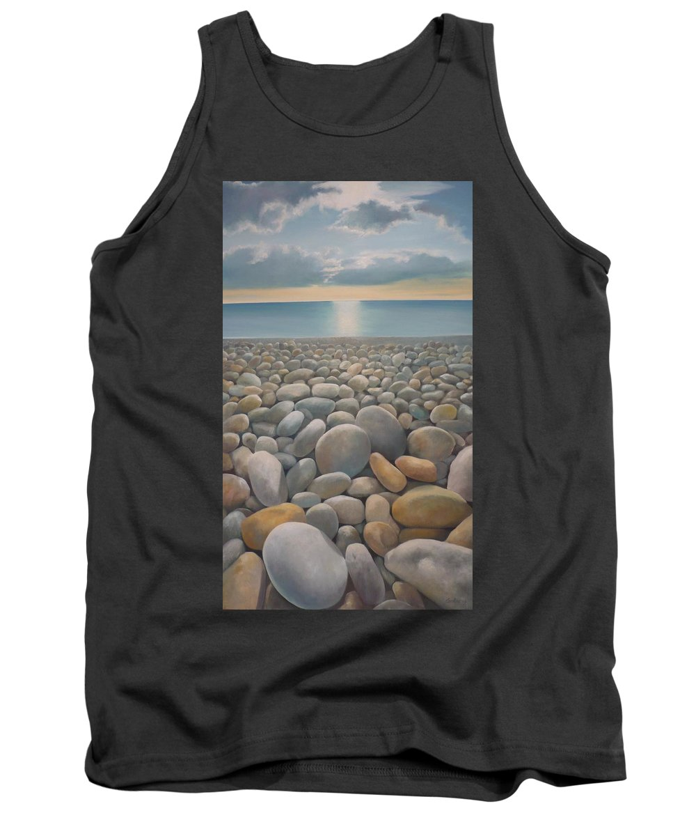 Tank Top featuring the painting End Of The Day by Caroline Philp