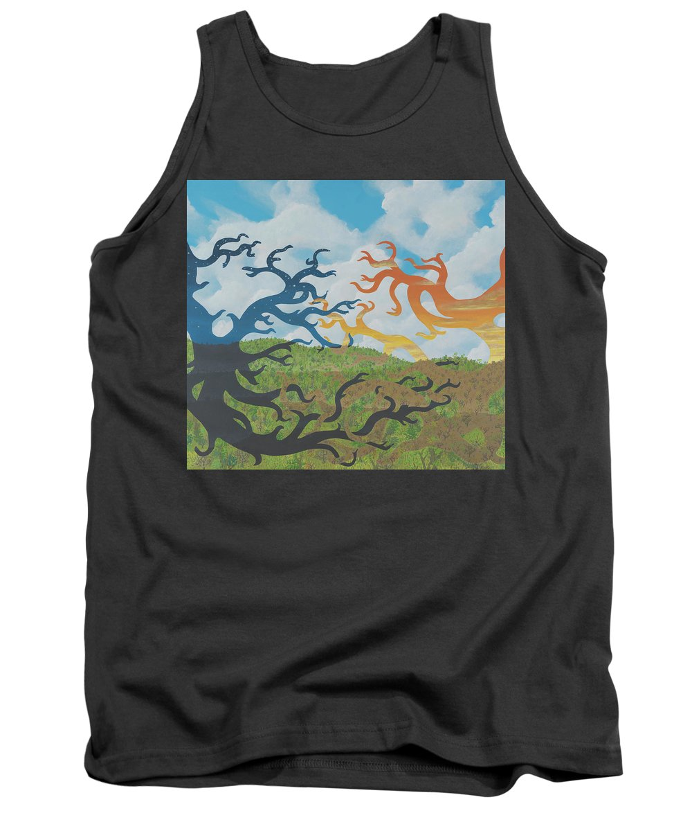 Surreal Landscape Tank Top featuring the painting Engagement by Jon Carroll Otterson