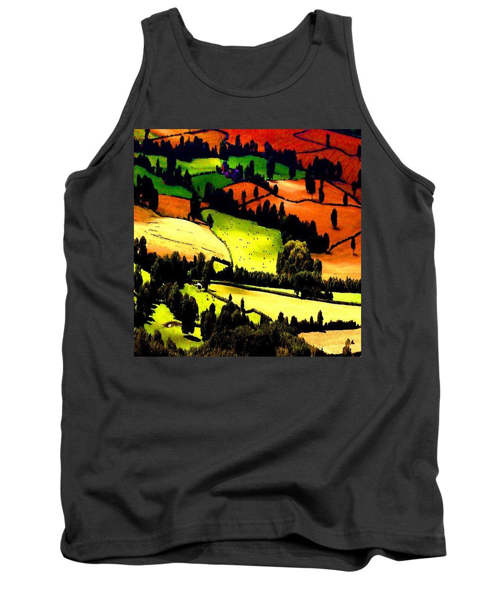 Summer Fields Tank Top featuring the photograph English Summer Fields by P Donovan