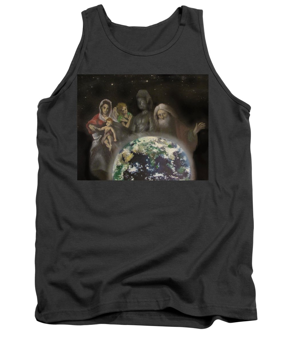 Coexistence Tank Top featuring the painting Enlightenment by Leah Dorrian