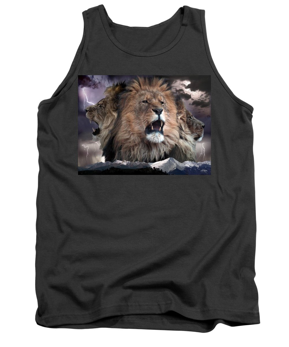 Lions Tank Top featuring the digital art Enough by Barbara Stephens