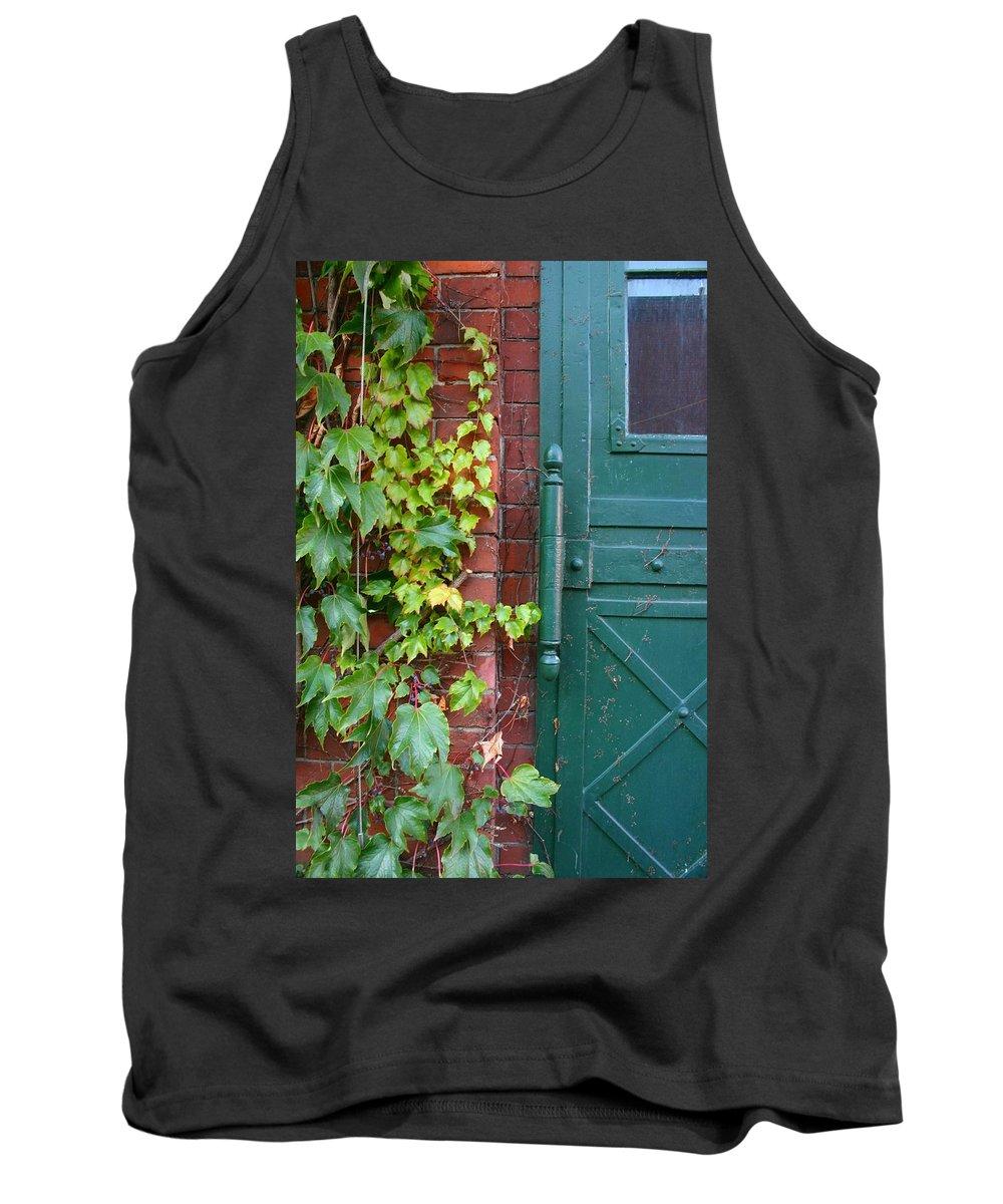 Vines Tank Top featuring the photograph Enter Vine Door by Minaz Jantz