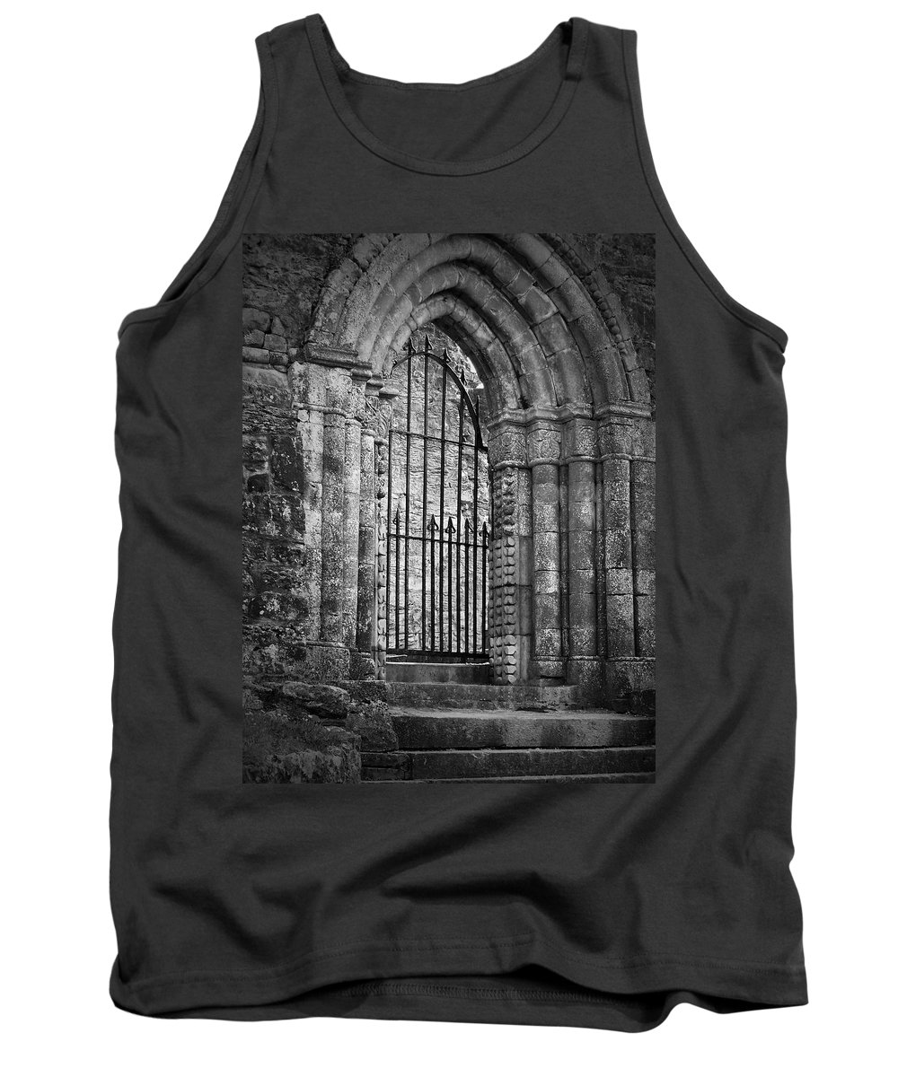 Irish Tank Top featuring the photograph Entrance To Cong Abbey Cong Ireland by Teresa Mucha