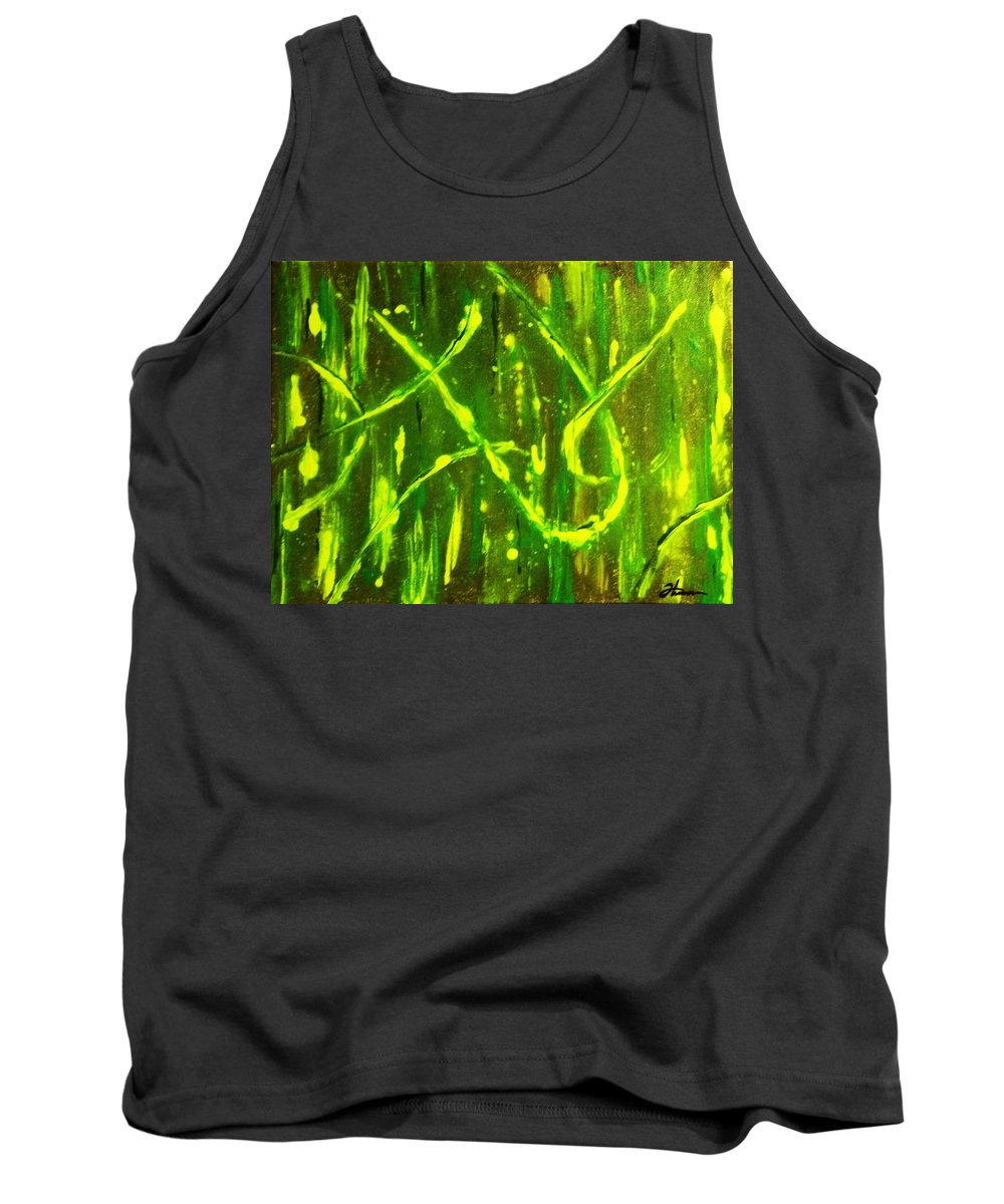 Abstract Tank Top featuring the painting Envy by Todd Hoover