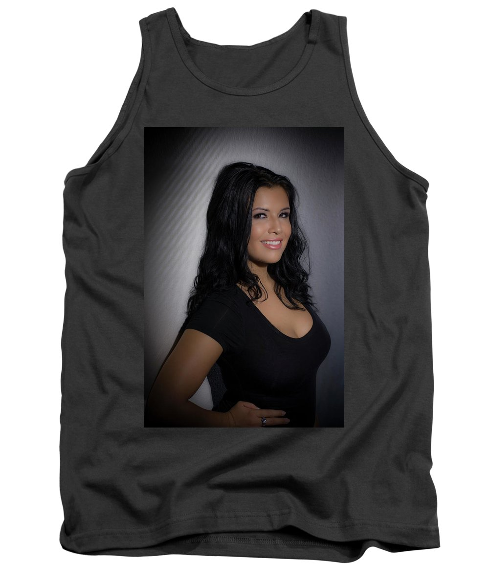 People Tank Top featuring the photograph Erica Smiles by Thomas Morris