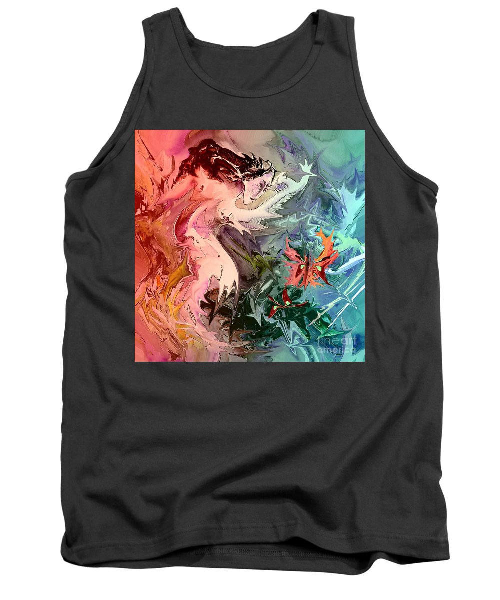 Miki Tank Top featuring the painting Eroscape 08 1 by Miki De Goodaboom