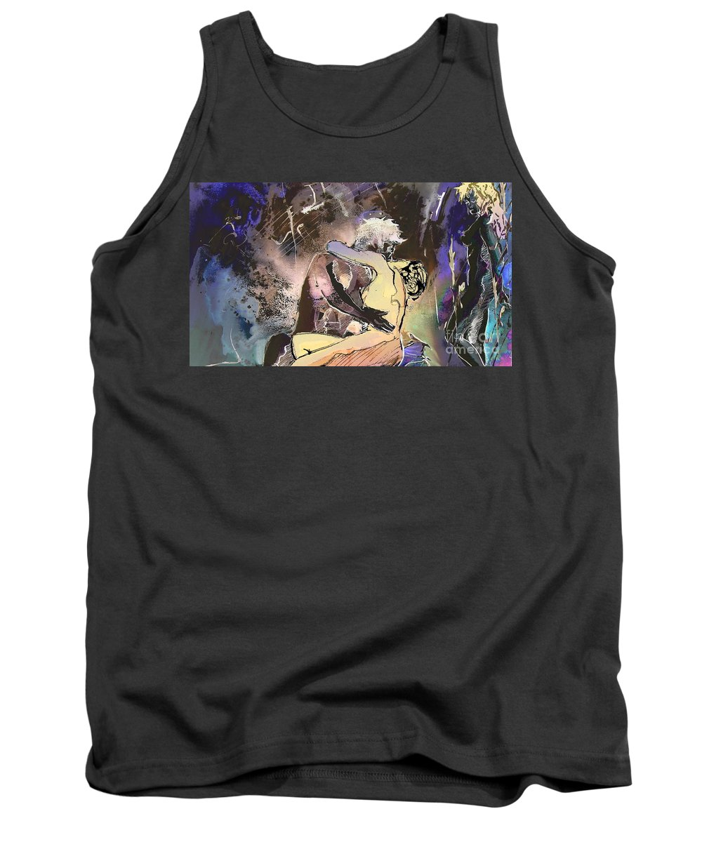 Miki Tank Top featuring the painting Eroscape 09 2 by Miki De Goodaboom