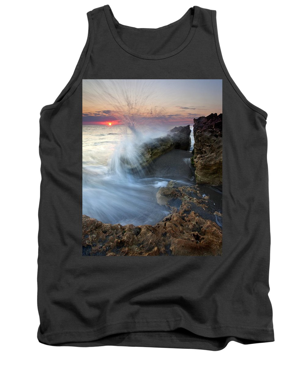 Blowing Rocks Tank Top featuring the photograph Eruption At Dawn by Mike Dawson