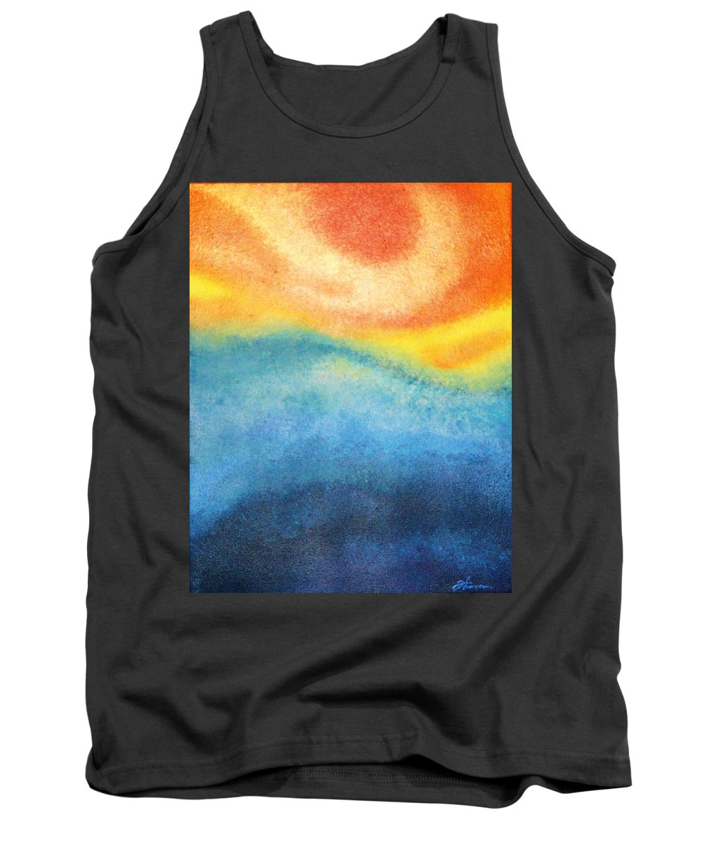 Escape Tank Top featuring the painting Escape by Todd Hoover