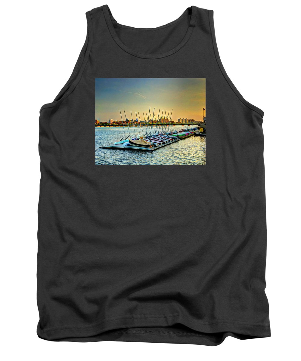 Boston Tank Top featuring the photograph Esplanade Dock 023 by Jeff Stallard