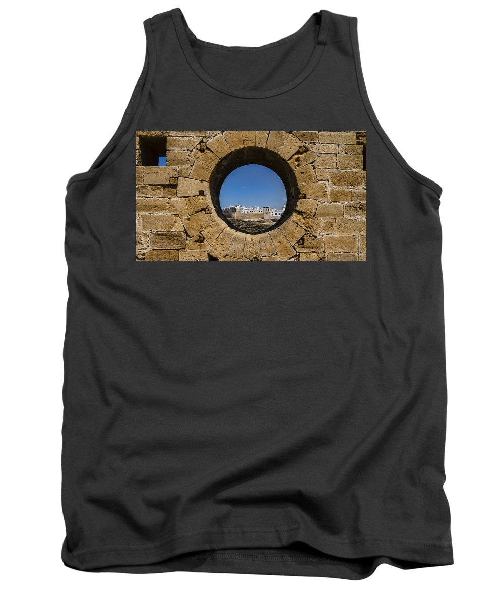 Essaouira Tank Top featuring the photograph Essaouira In Morocco by Lindley Johnson