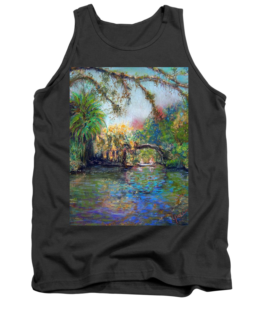 Koreshan State Park Tank Top featuring the painting Estero River At Koreshan by Laurie Paci