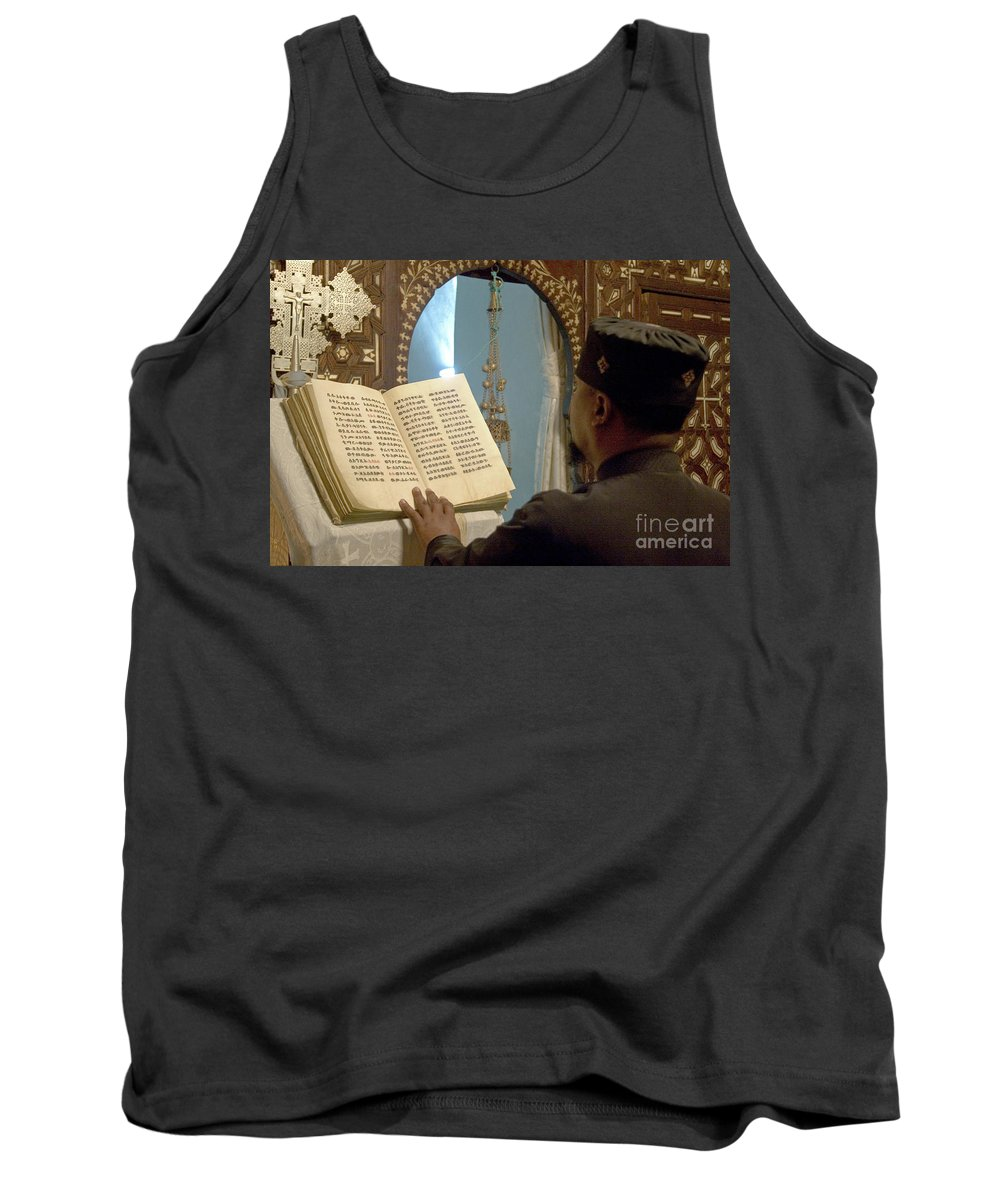 Christian Tank Top featuring the photograph Ethiopian Priest by Danny Yanai