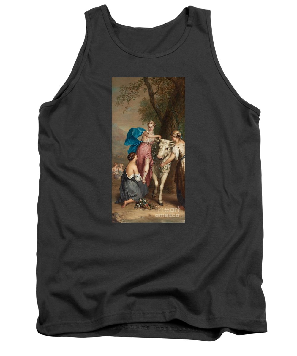 Georg Van Der Mijn Tank Top featuring the painting Europa And The Bull. by MotionAge Designs