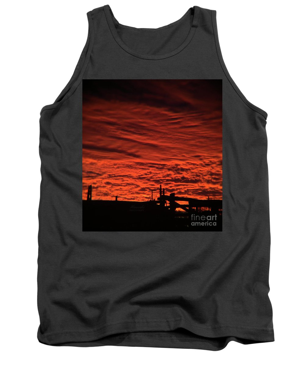 Landscape Tank Top featuring the photograph Evening Gates by Stacy Hannahs