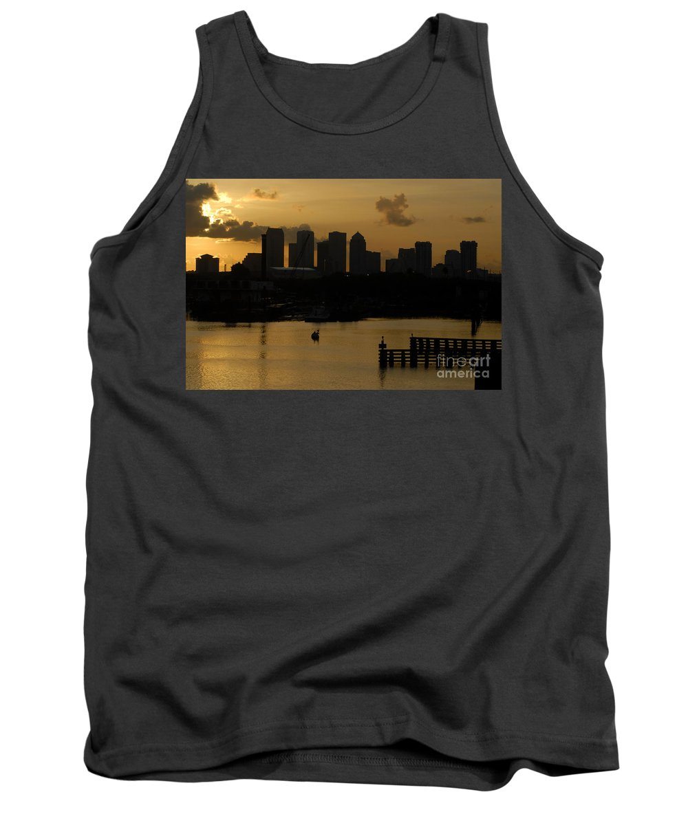 Tampa Bay Florida Tank Top featuring the photograph Evening In Tampa by David Lee Thompson