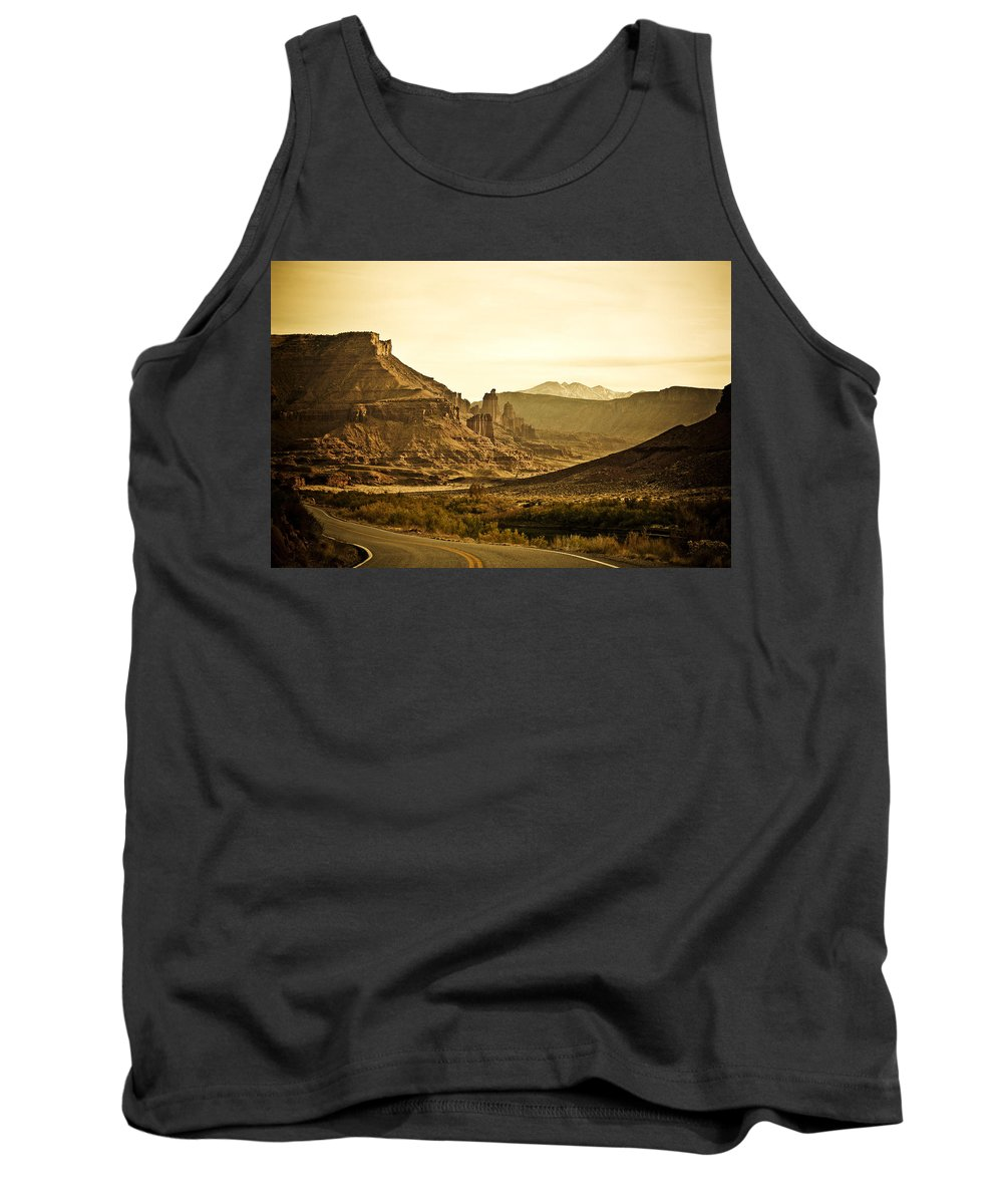 Americana Tank Top featuring the photograph Evening In The Canyon by Marilyn Hunt