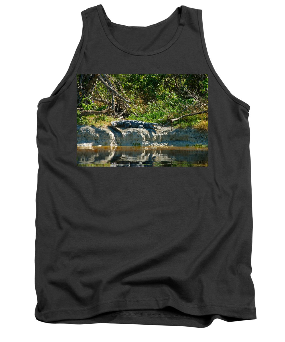 Everglades National Park Tank Top featuring the photograph Everglades Crocodile by David Lee Thompson