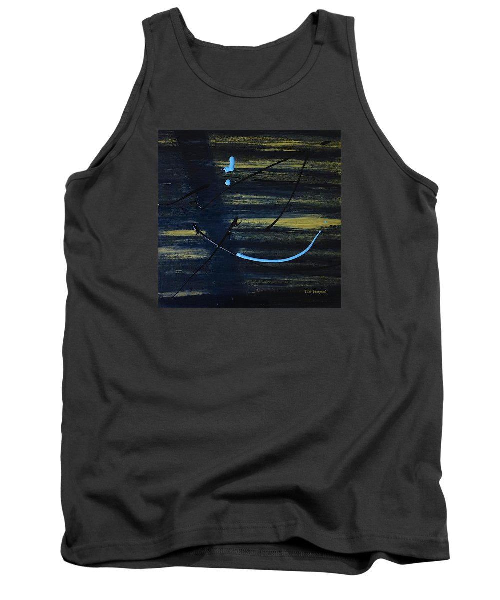 Absstract Tank Top featuring the painting Evidence by Dick Bourgault