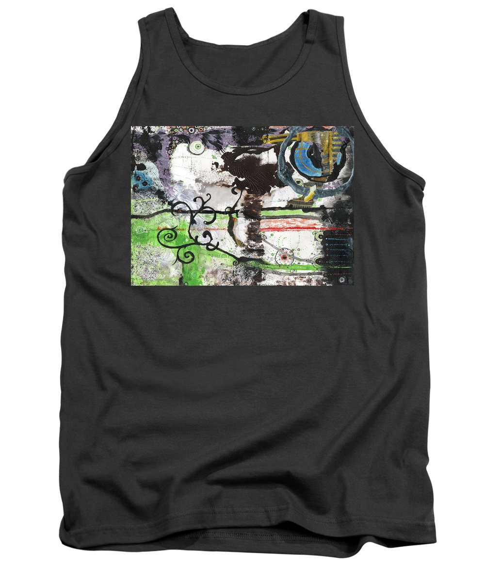 Abstract Tank Top featuring the painting Evolution Revolution by Jay Taylor