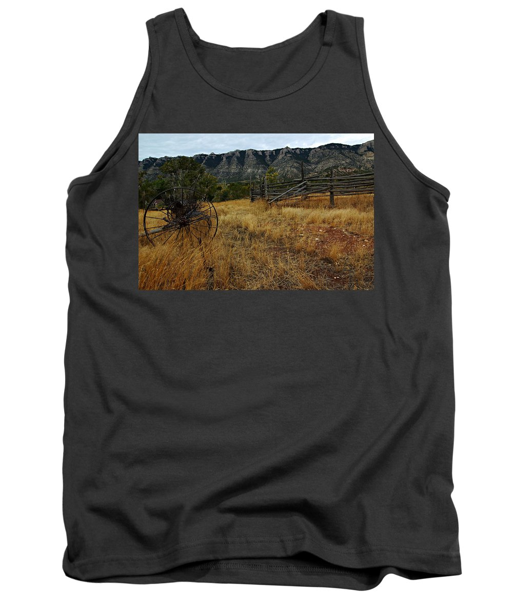 Bighorn Canyon National Recreation Area Tank Top featuring the photograph Ewing-snell Ranch 2 by Larry Ricker