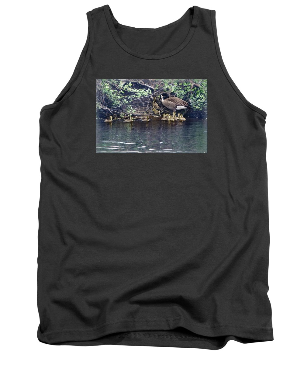 Baby Geese Tank Top featuring the photograph Exit by Barbara Hymer