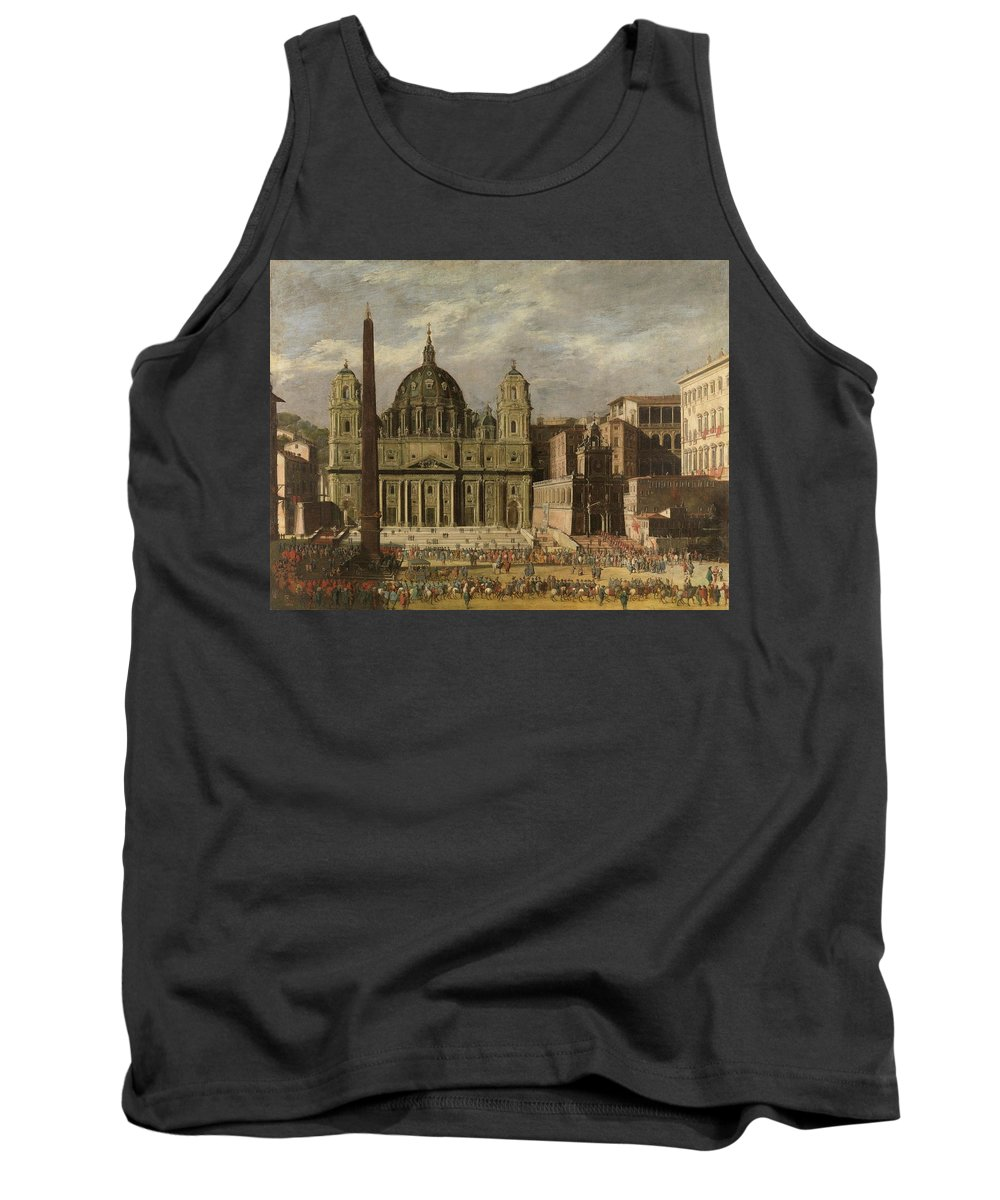 Castel Tank Top featuring the painting Exterior Of Saint Peter S, Rome by Codazzi Viviano