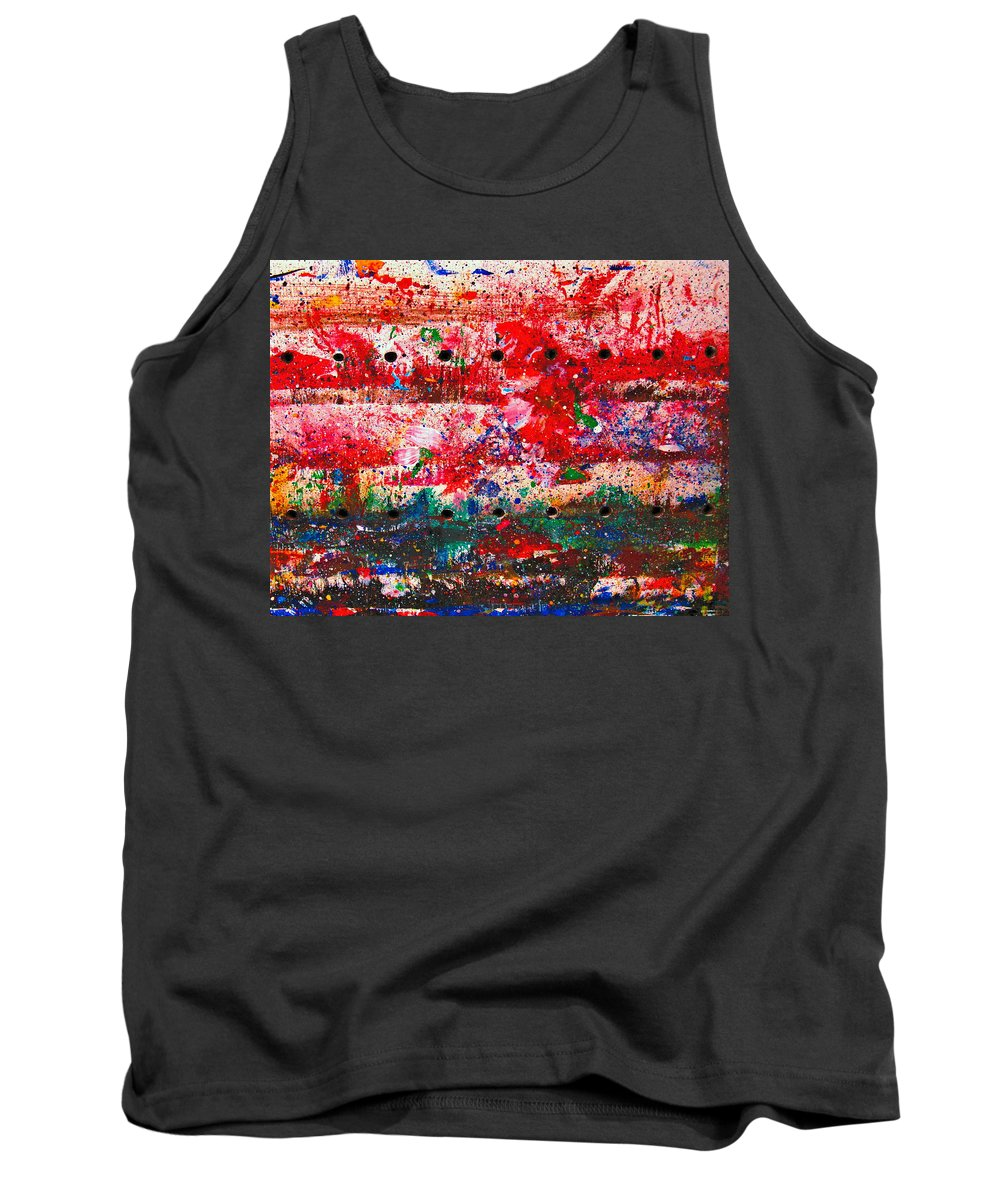 Abstract Tank Top featuring the painting Extravaganza by Natalie Holland