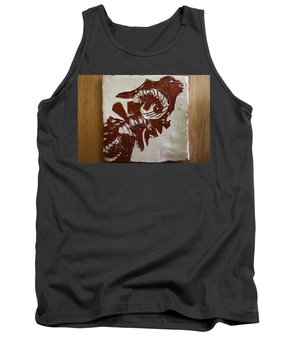Jesus Tank Top featuring the ceramic art Extremes - Tile by Gloria Ssali