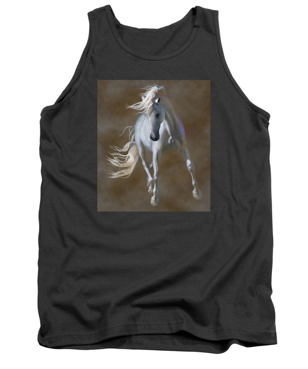 Andaluian Tank Top featuring the painting Fabuloso by Barbara Hymer