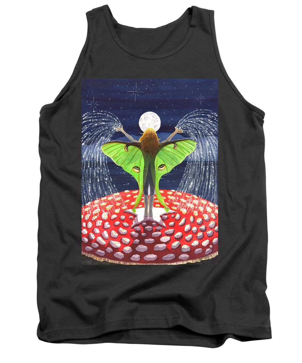 Fairy Tank Top featuring the painting Fairy Dust by Catherine G McElroy